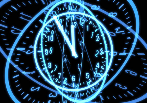countdown to midnight - distorted image stock pictures, royalty-free photos & images