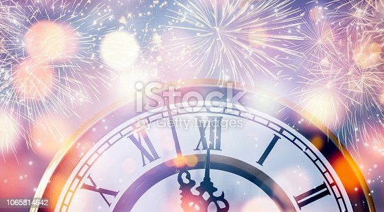 istock countdown with fireworks and watch 1065814642