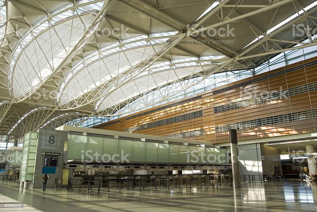 Counter and roof in Airport royalty-free stock photo