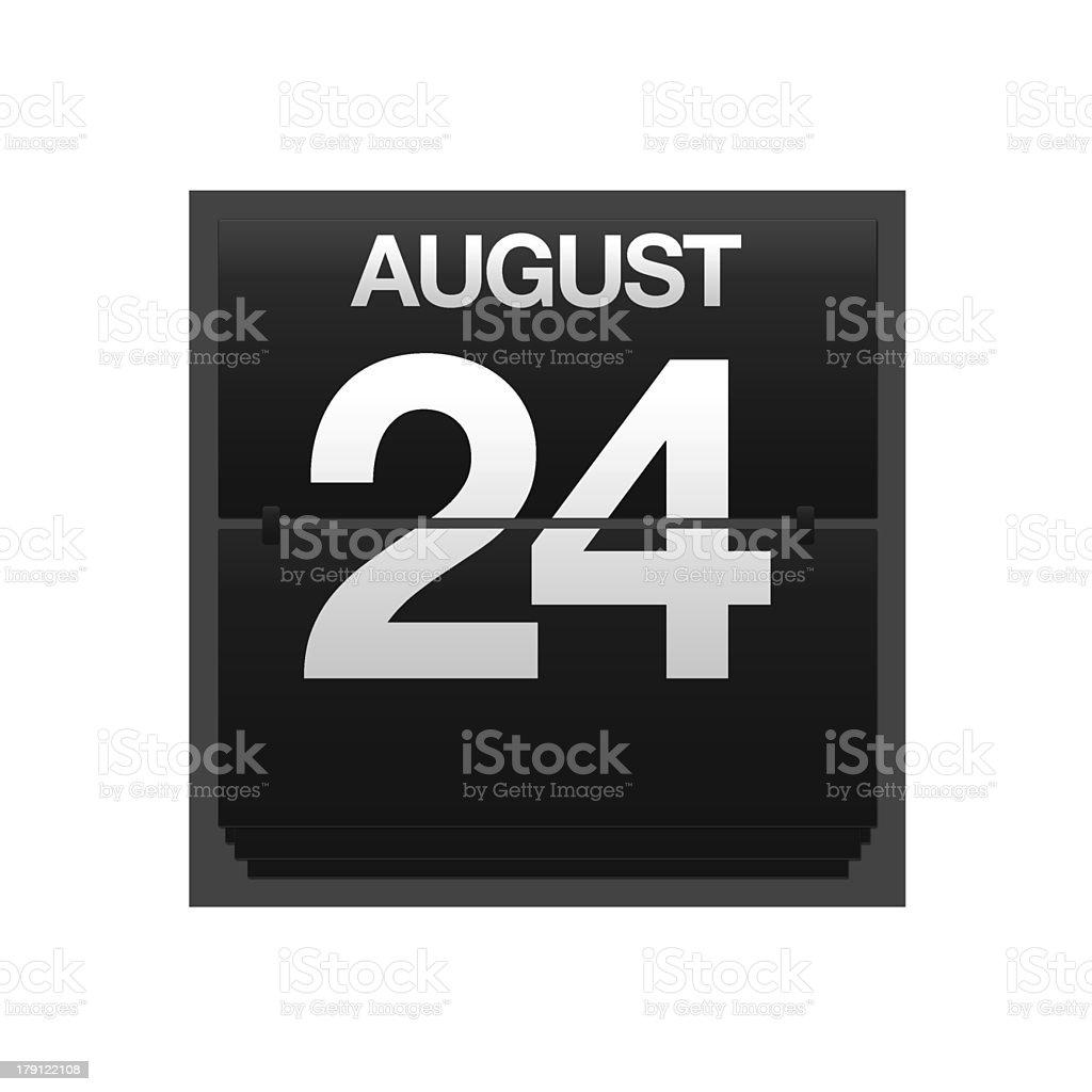 Counter calendar august 24. stock photo