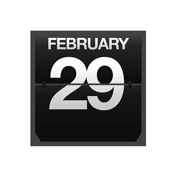 Licznik Kalendarz się 29 lutego. – zdjęcie
