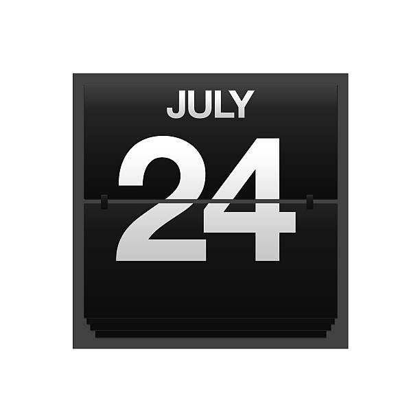 comptoir calendrier du 24 juillet. - nombre 24 photos et images de collection