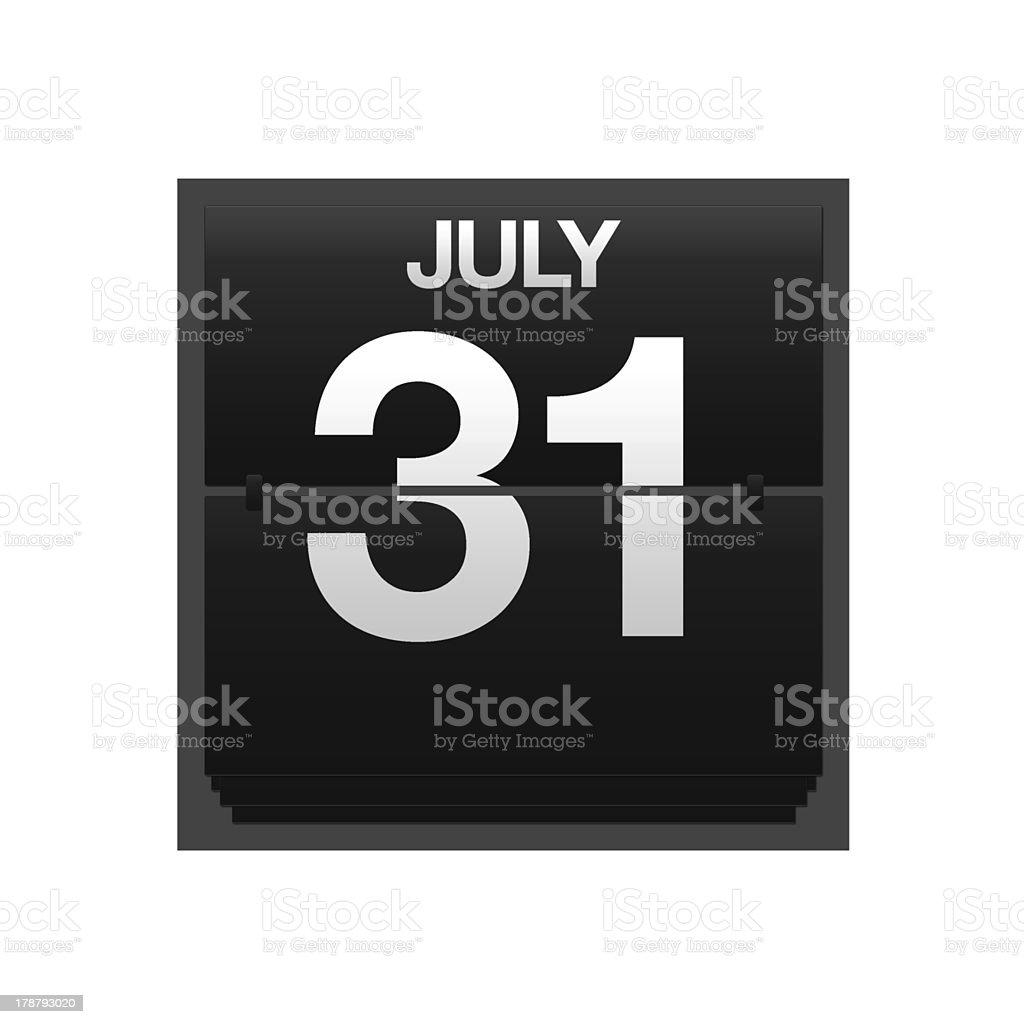 Calendario 31 Luglio.Contatore Calendario Al 31 Luglio Fotografie Stock E Altre