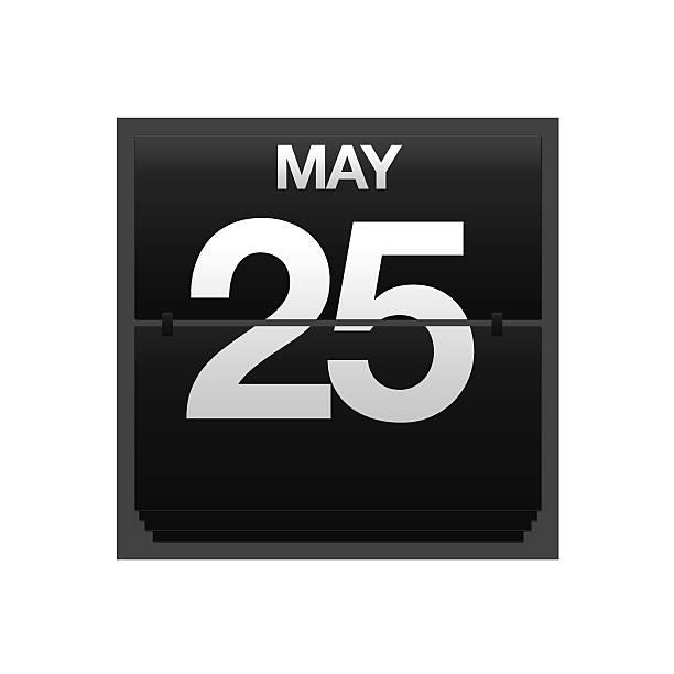 Contador calendario 25 de mayo. - foto de stock