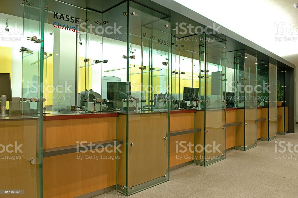 counter in a bank stock photo