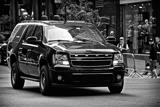 Counter Terrorism Security Vehicles during United Nations Assembly events, NYC stock photo