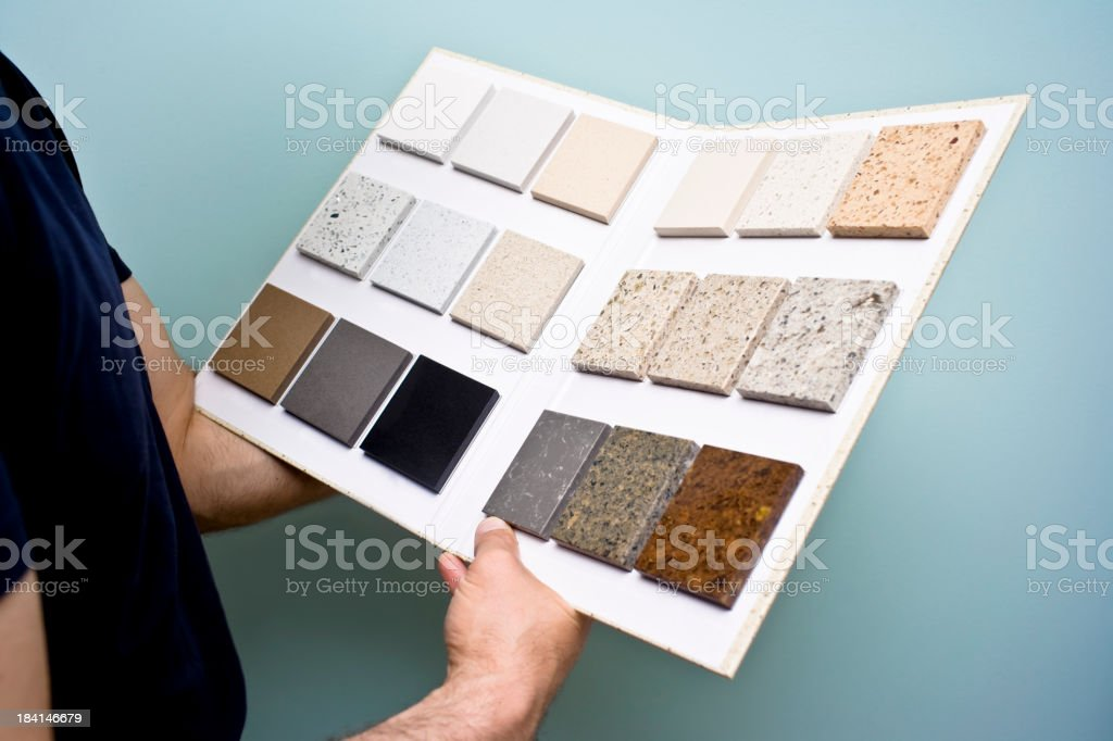 Counter Top samples royalty-free stock photo