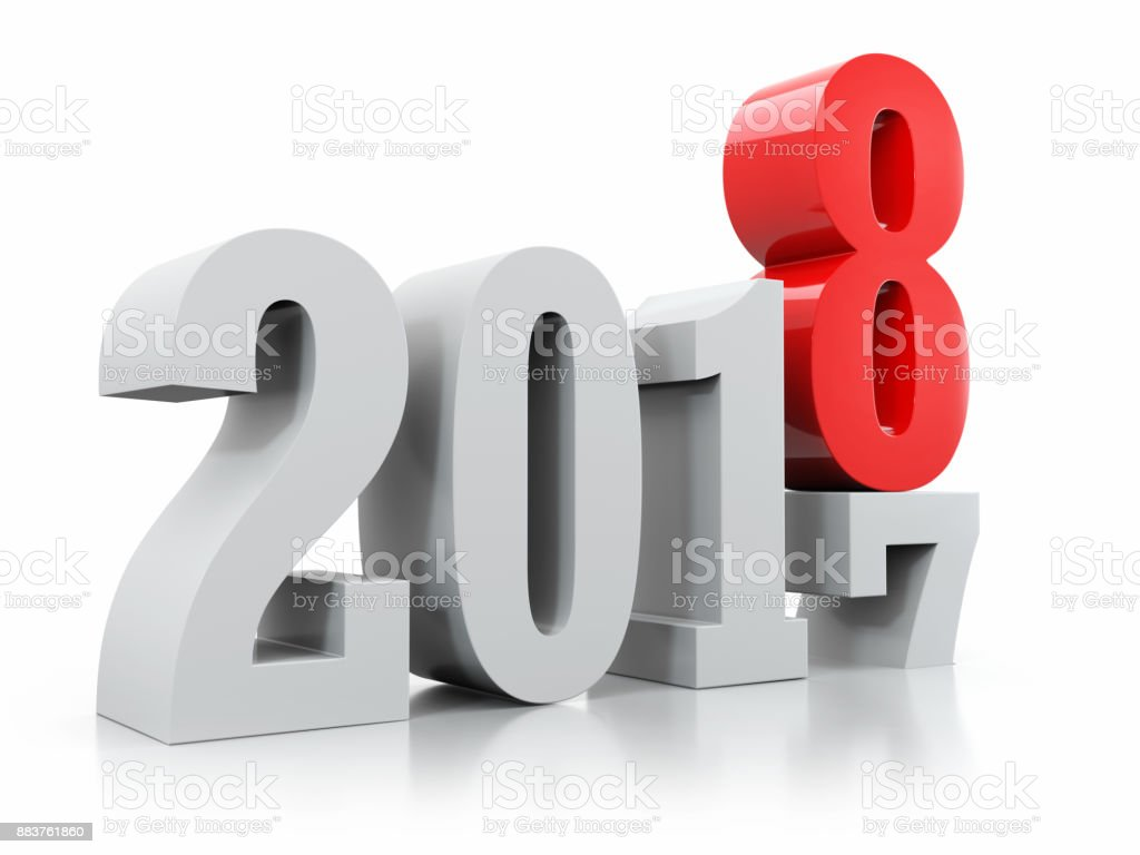Counter years 2017-2018 stock photo