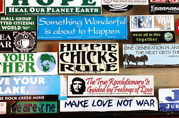 Counterculture Bumper Stickers stock photo