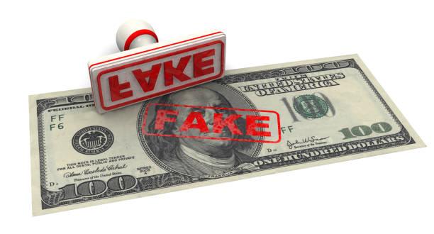 Counterfeit American Dollar Bill stock photo