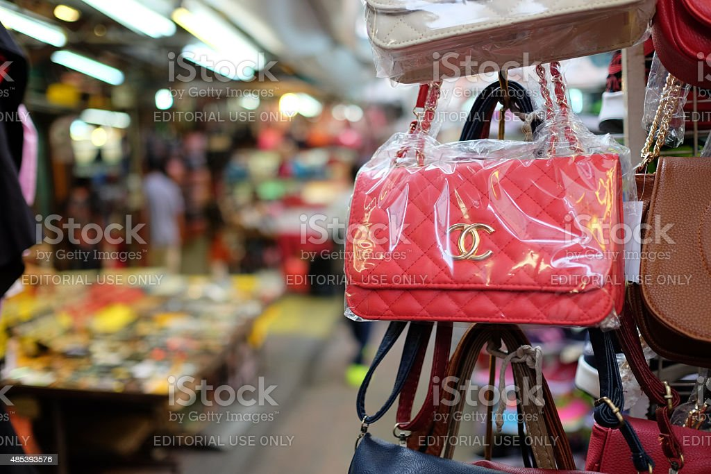 Counterfeit  Bags in Malaysia stock photo