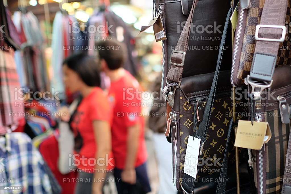 Counterfeit Louis Vuitton Bags in Malaysia stock photo
