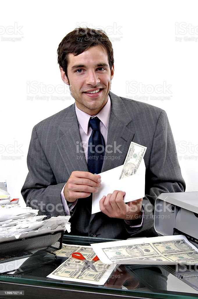 Counterfeiter stock photo