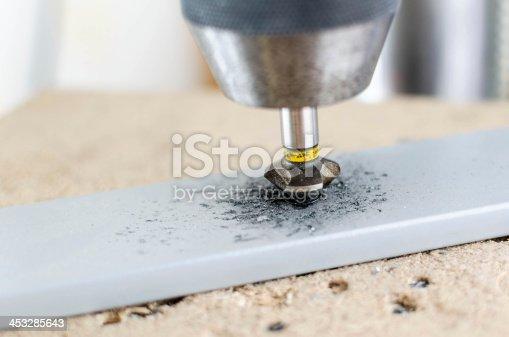 istock Countersinking holes. 453285643