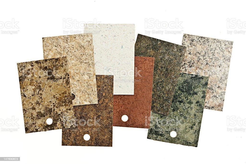 Countertop samples on white stock photo
