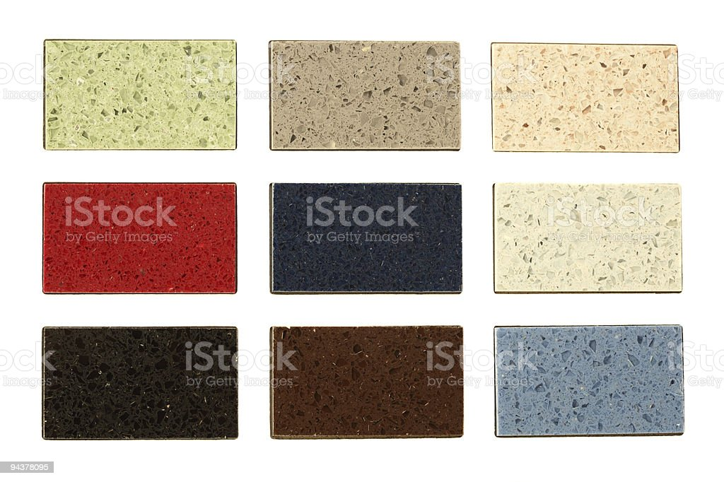 Countertop samples over white royalty-free stock photo