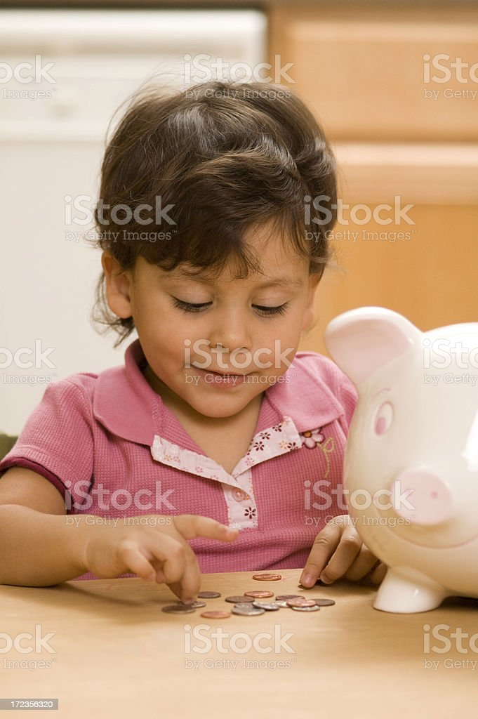 counting coins royalty-free stock photo