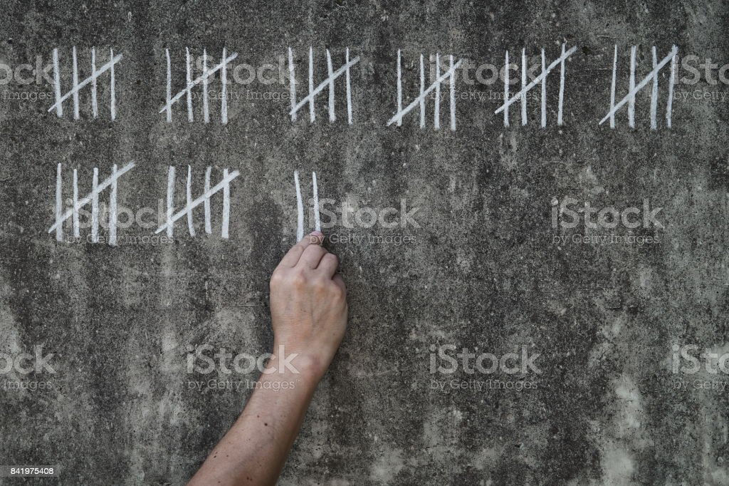 counting days in prison stock photo