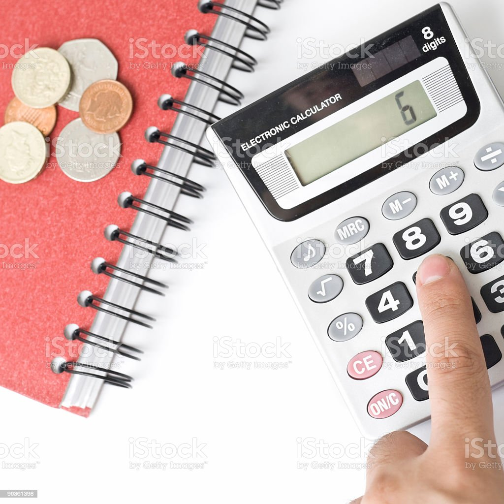 Counting Money royalty-free stock photo