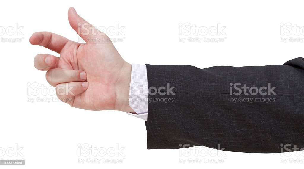 counting on fingers - hand gesture stock photo