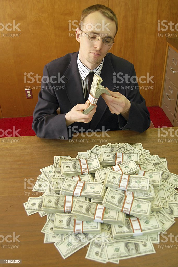 Counting the Bailout Money stock photo