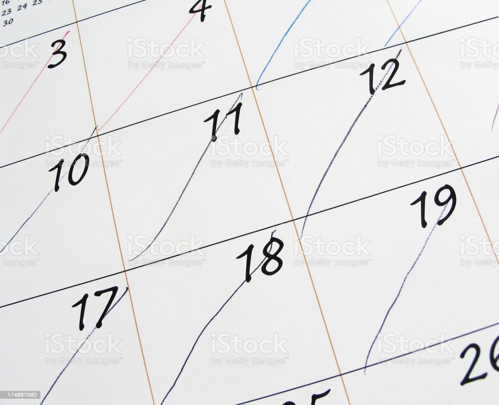 Counting the Days royalty-free stock photo