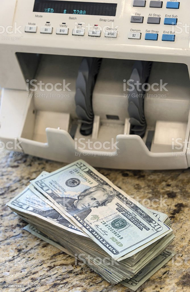 Counting the money royalty-free stock photo