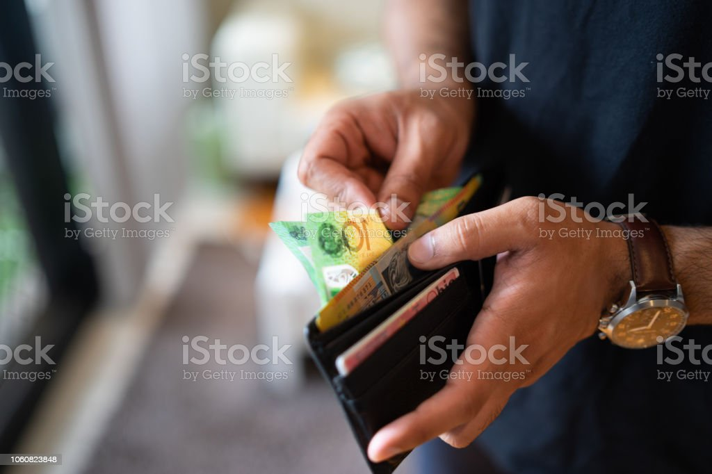 counting the savings stock photo