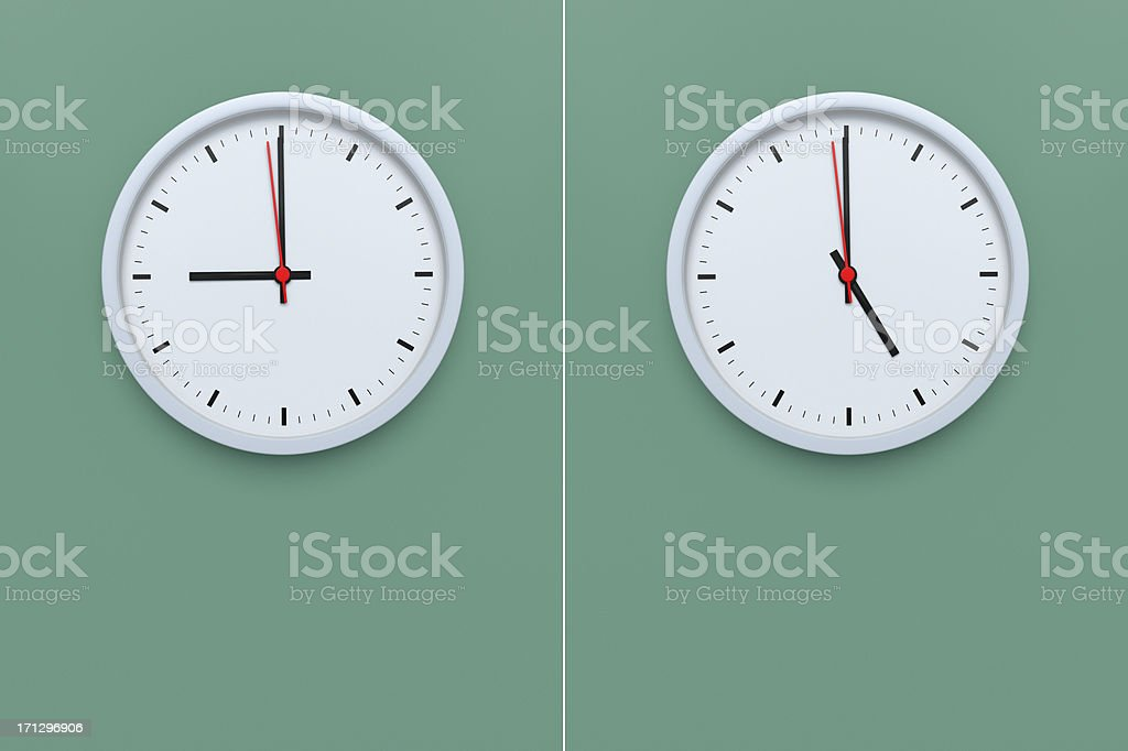 Counting the Seconds Nine to Five stock photo