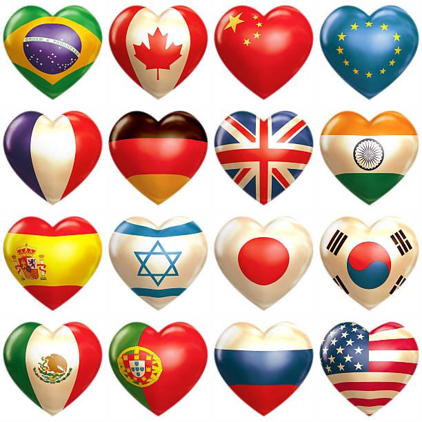 länder hearts - deutschland usa stock-fotos und bilder
