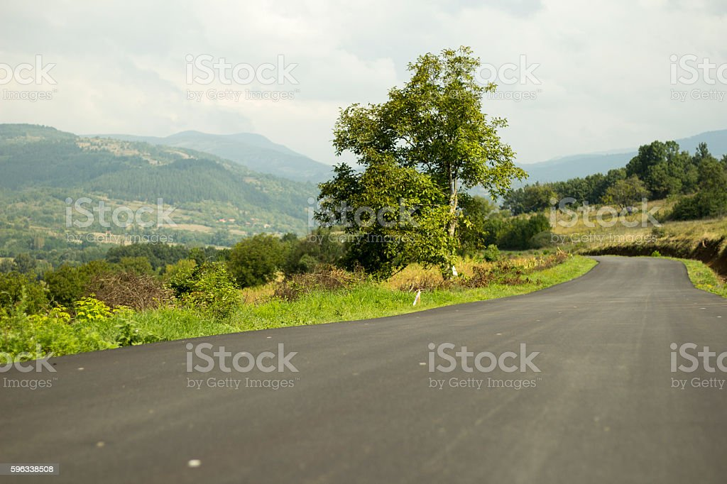 Country asphalt road. Lizenzfreies stock-foto