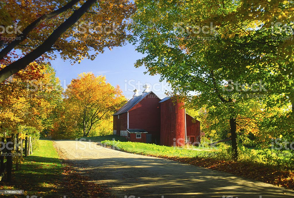 Country barn on an autumn afternoon. royalty-free stock photo