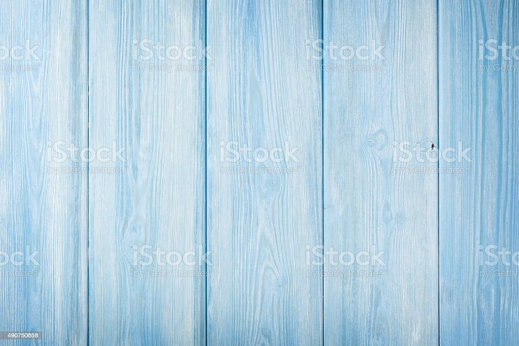 Country blue wooden table stock photo