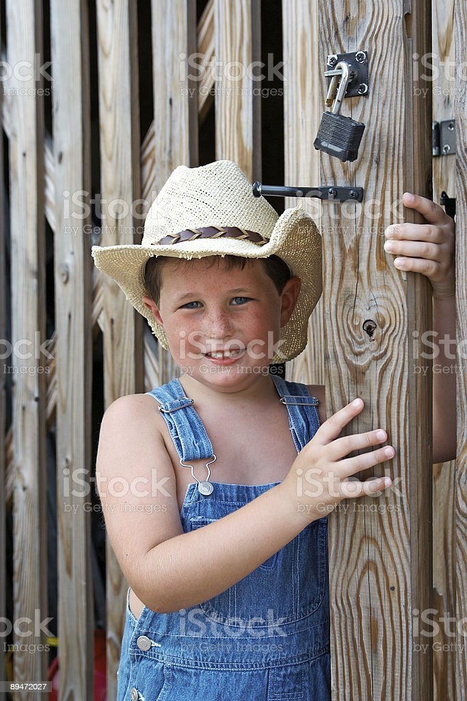 Country Boy royalty-free stock photo