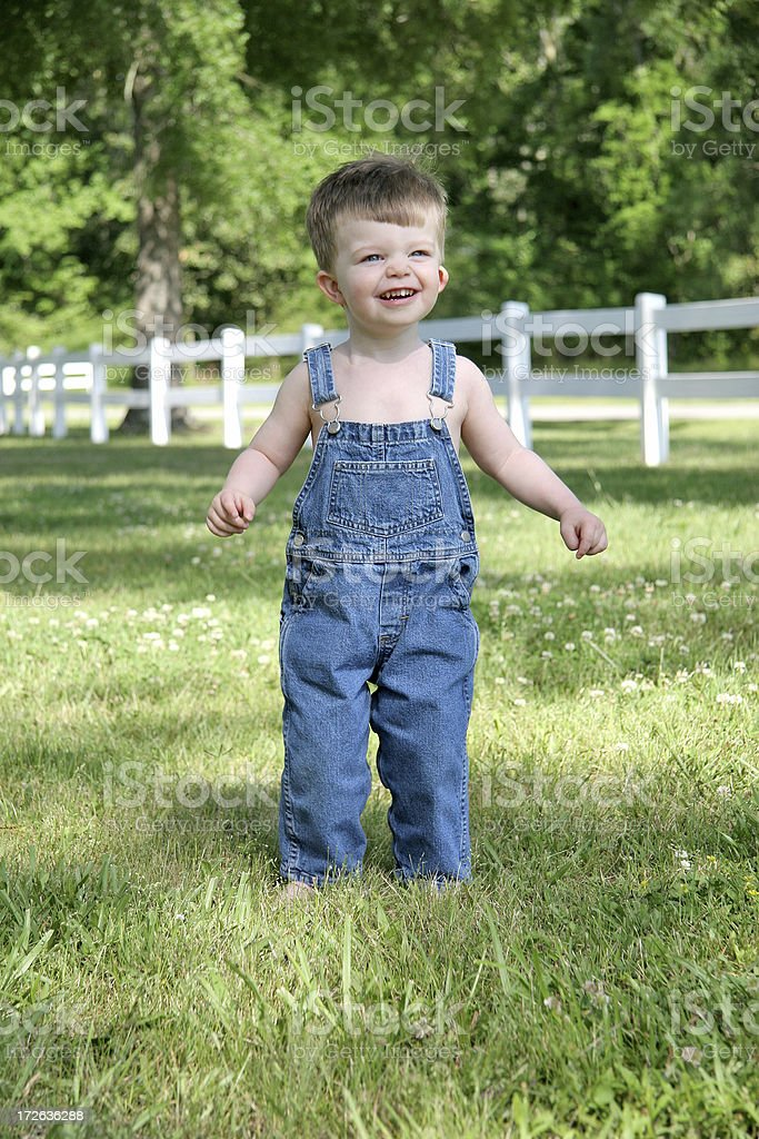 Country boy series: Grinning. royalty-free stock photo