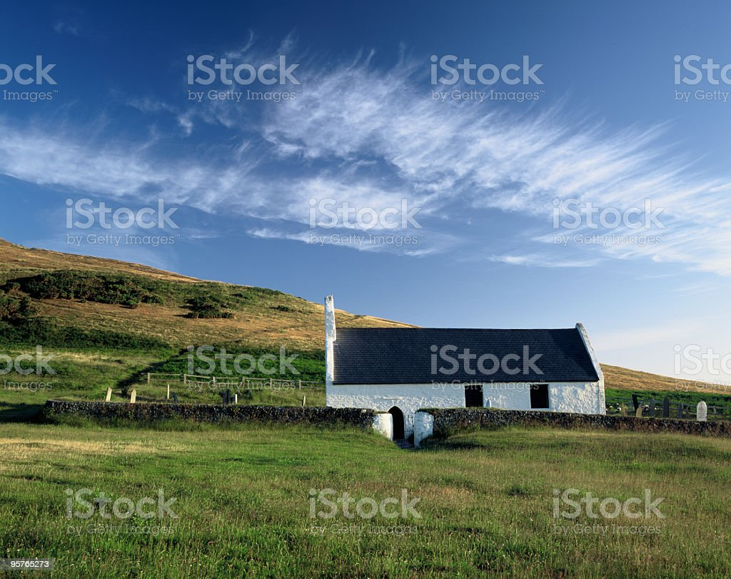 Country Chapel in Wales royalty-free stock photo
