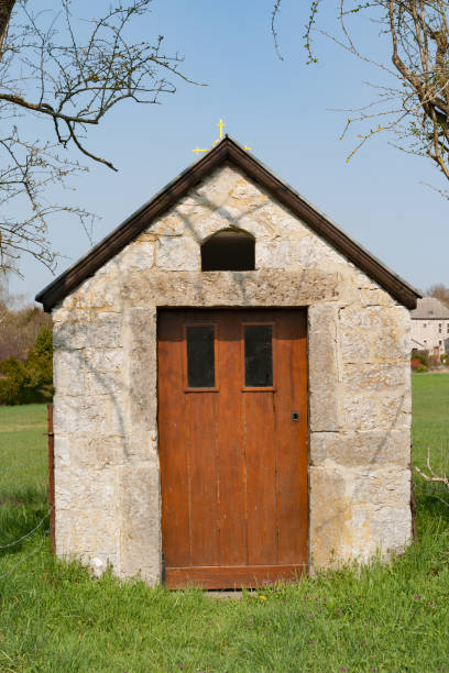 Country chapel stock photo