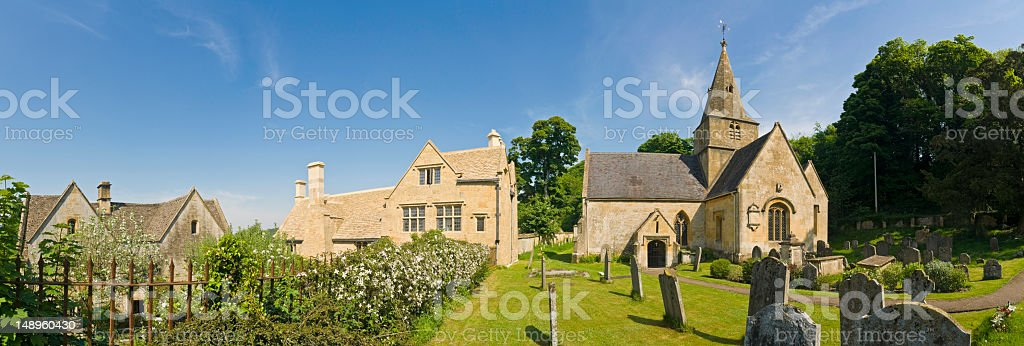 Country chapel picturesque village royalty-free stock photo