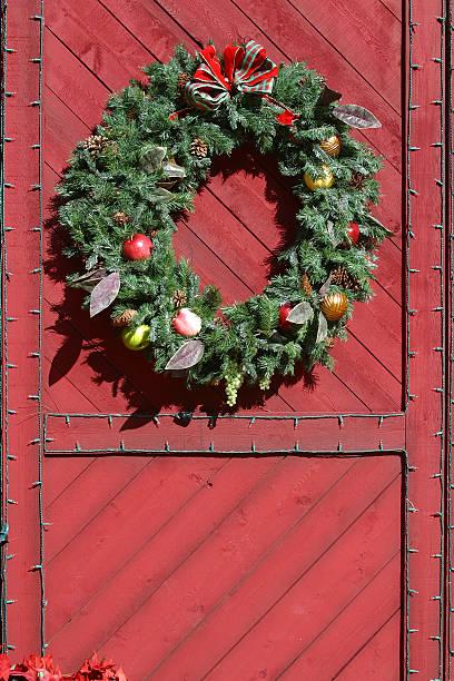 country christmas-englische redewendung - türbänder stock-fotos und bilder