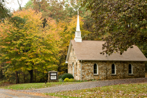 Country Church in Autumn