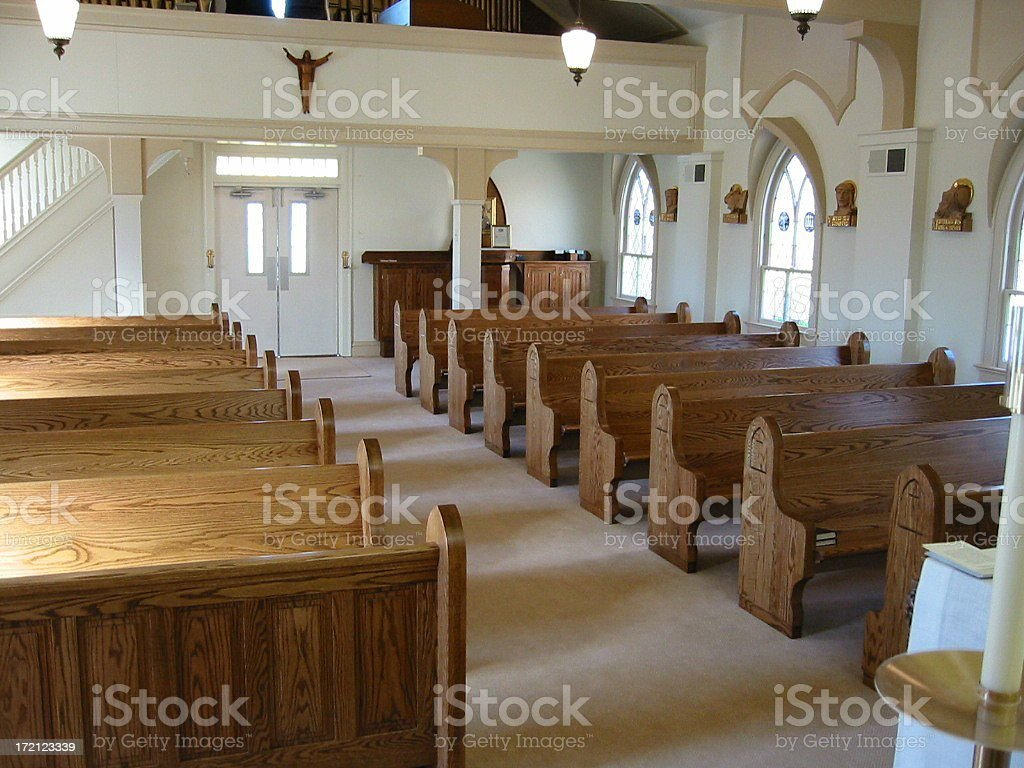 Country Church Pews royalty-free stock photo