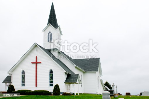 A country church in rural Wisconsin.
