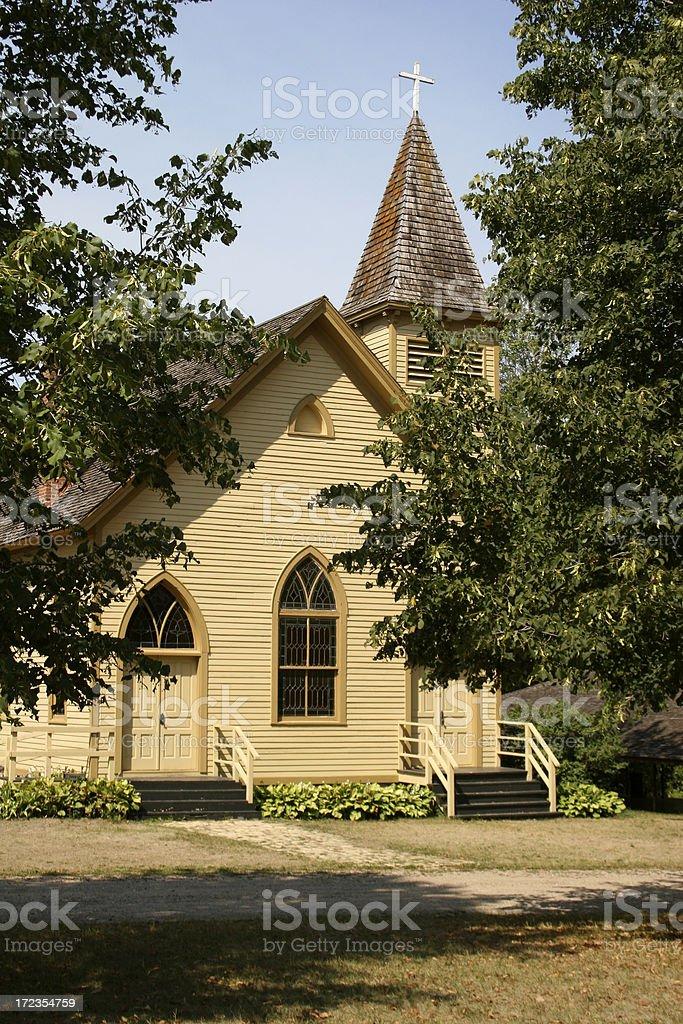 Iglesia de país foto de stock libre de derechos