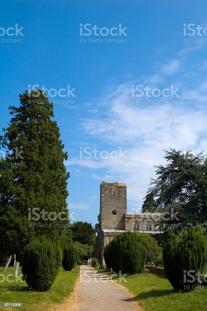 Country churchyard royalty-free stock photo