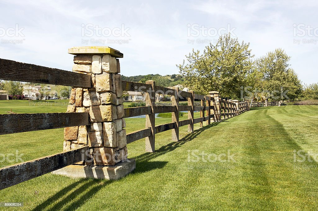 Country Club Fence royalty-free stock photo