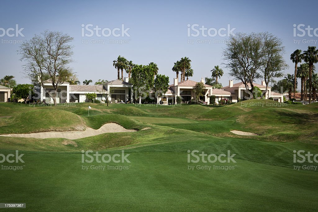 Country Club Homes royalty-free stock photo