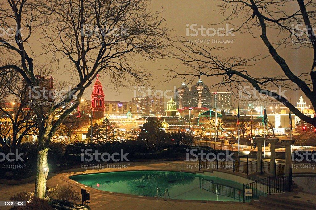 Country Club Plaza Kansas City Christmas Lights stock photo ...