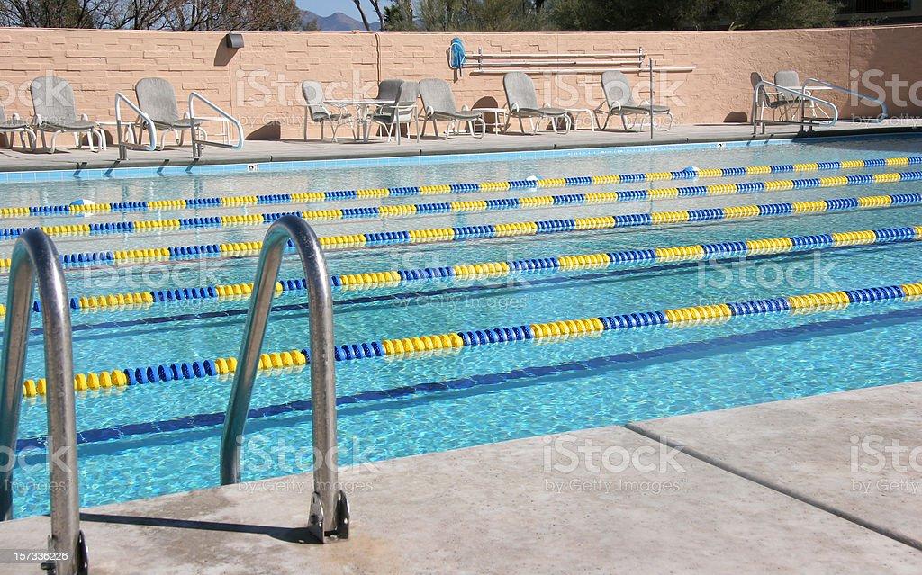 Country Club Pool With Swim Lanes stock photo