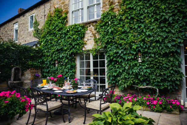 country cottage in england - gateshead stock photos and pictures