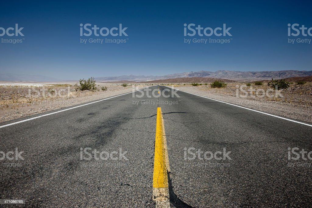 Country Desert Highway royalty-free stock photo